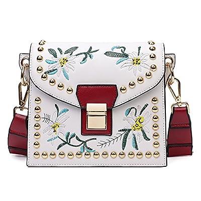 BYD Femme Mini sac de mode en cuir Femme sac à bandoulière de sac à main Sac de motif de broderie Vintage