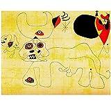 Shmjql Pintor Surrealista De España Joan Miro Póster De Lienzo Artístico Arte De Pared Cuadro De Pintura Decorativa para El Hogar -50X70Cmx1 Sin Marco