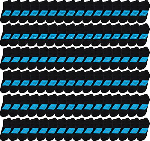 480 Pairs Ankle Socks for Men, Wholesale Low Cut No Show Casual Basic Value Bulk Pack (Black)