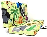 Sitzkissen für Kinder, Made in Germany, faltbar für Ausflug, Spielplatz, Strand, 33cm x 29cm x 3cm