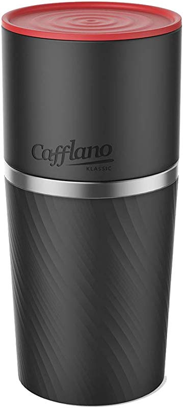 Cafflano Klassic Portable All In One Pour Over Coffee Maker Black