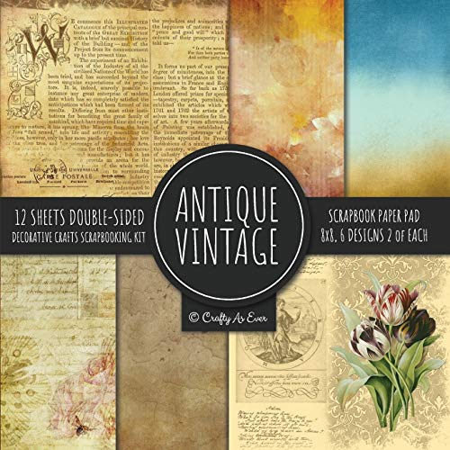 Compare Textbook Prices for Antique Vintage Scrapbook Paper Pad 8x8 Decorative Scrapbooking Kit Collection for Cardmaking, DIY Crafts, Creating, Old Style Theme, Multicolor Designs  ISBN 9781951373023 by Crafty As Ever