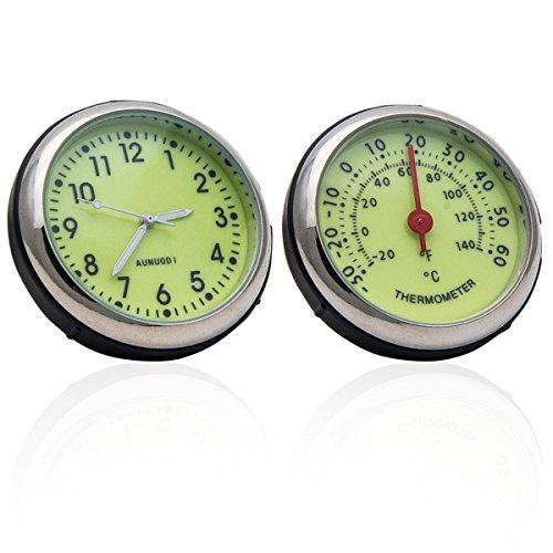 Portable de voiture 4 x 4 A/C Vent Clip Système de 12 heures Horloge Thermomètre Parfum de stockage