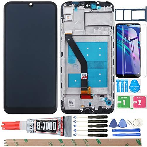 """YHX-OU 6.09\"""" per Huawei Honor 8A Honor Play 8A Display LCD Set di digitalizzatore Touch + 1 Vetro Temperato (Nero)"""