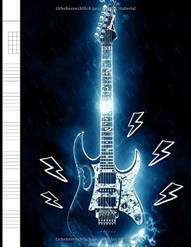 Guitar Tab Notebook: Gitarren Tabulatur Block - Heft für Gitarre als TAB-Block für eigene Notizen, Noten-Block-Alternative für Gitarren-Notation