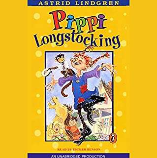 Pippi Longstocking audiobook cover art