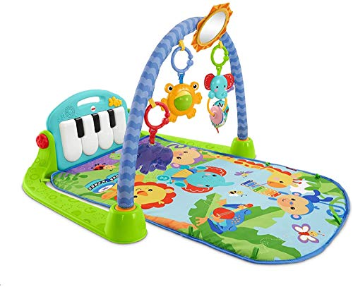 Alfombrilla de juego para bebés Alfombrilla de actividad para bebés Alfombrilla de gimnasio para bebés Alfombrilla de juego para patadas y juegos con música y luces, espejo, juguetes, sonajero