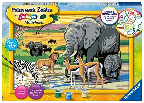Ravensburger Malen nach Zahlen 28766 Tiere in Afrika 28766-Tiere