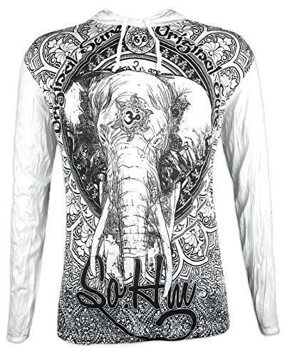 Sure Camiseta con Capucha Hombre Om Ganesha - El Dios Elefante Talla M L XL India...