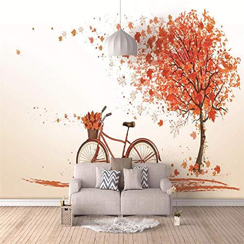 3D Wandbilder Romantisches Fahrrad Fototapete Moderne Design Tapeten Vlies Tapete Wohnzimmer Schlafzimmer Kinderzimmer Büro Hintergrund Wand Wohnkultur, 300x210 cm