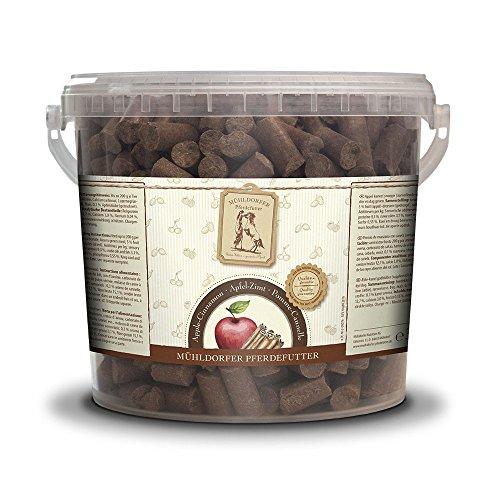 Mühldorfer - Golosinas de Manzana y Canela, 3 kg, golosinas para Caballos, alimento de recompensa con Manzanas y Sabor a Canela, morirse, lubricar y no se pegan