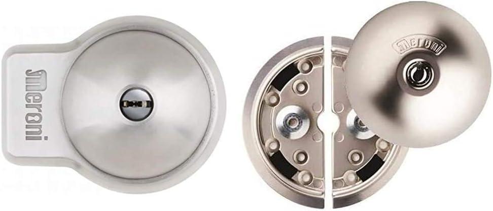 Inox UFO 8080331215D n/íquel mate Cerradura de seguridad para el compartimiento de carga de furgones MERONI 8086H3122BC Cerradura para veh/ículos UFO+ Sencillo