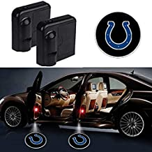 Starijas 2pcs NFL - Rugby Team Logo Car Door Led Welcome Laser Projector Car Door logoCourtesy Light Suitable Fit for All Brands of Cars with Indianapolis Colts