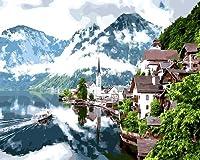 デジタル絵画絵画からDiy都市景観風景画家の壁の装飾50X60cm