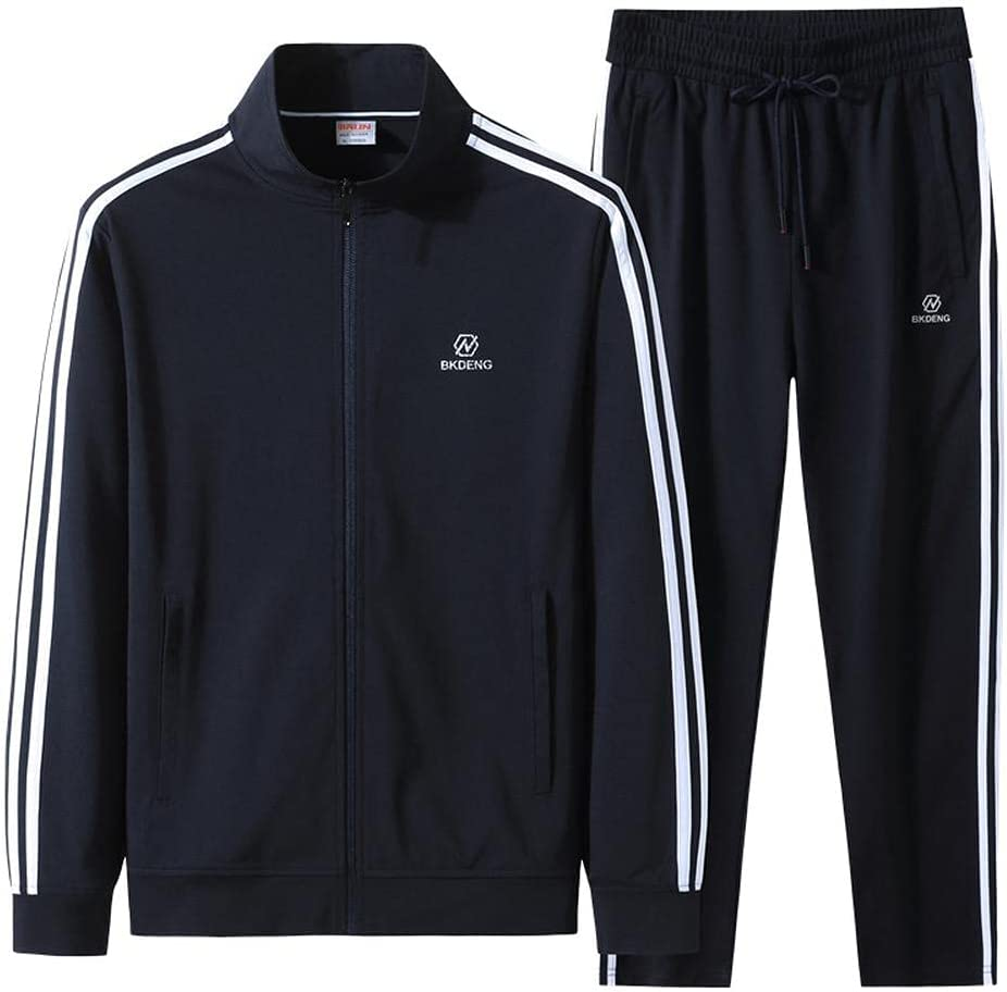 BYYDYSRFLO New products, world's highest quality popular! Men's shipfree Tracksuit Sets Casual Collar Ja Stripe Stand-Up