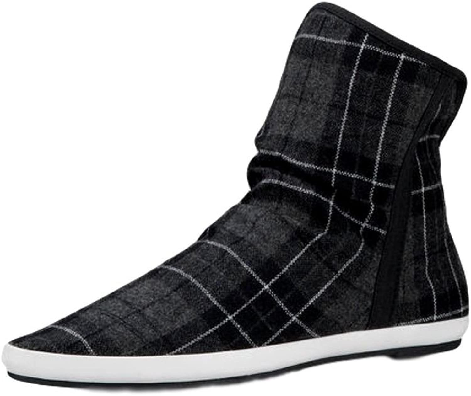 Sanuk Casual Boots Womens Kat Paw Sphynx Pointed 6 Black Plaid 1014691