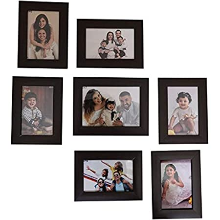 Jacky Collage Photo Frames Set of 7 Wall Hanging 7X5-1, 6X4-6 INCH (Black)