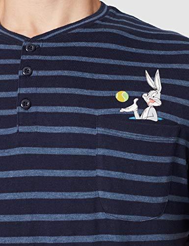 Springfield Pijama Bugs Bunny Juego, Gris Medio, S para Hombre