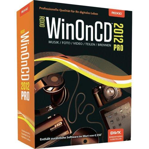 Roxio WinOnCD 2012 Pro, Win, DVD, DEU - Software de video (Win, DVD, DEU, 3000 MB, 512 MB, Intel Pentium 1.6GHz, AMD, DEU)