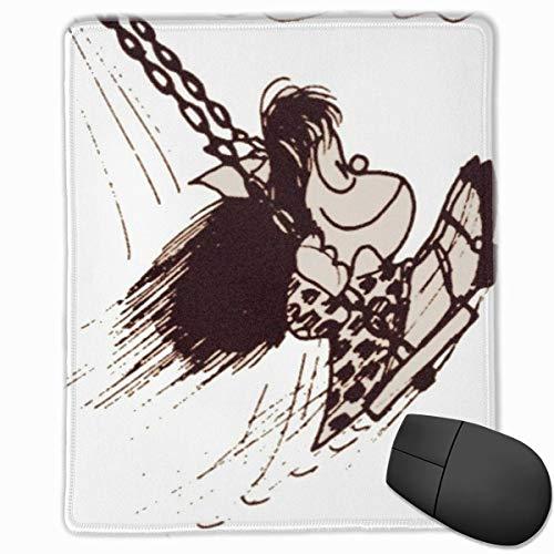 Yuanmeiju Non-Slip Rubber Mice Pad,Work Mousemat,Laptop Skins & Sleeves Mafalda 30X25Cm,Stitched Edge Mousepad,Gaming Tapis de Souris