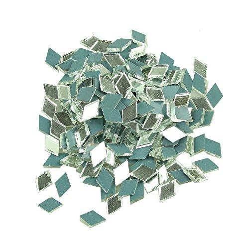 Diamantförmige Mosaik-Spiegelglasfliesen, Dekoration für Ihr Zuhause, 2,5 x 1,3 cm, 200 Stück