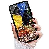 HOT12034 Van Gogh Cafe Terasse bei Nacht 12034 Schutzhülle für iPhone 12, iPhone 12 Pro, langlebig