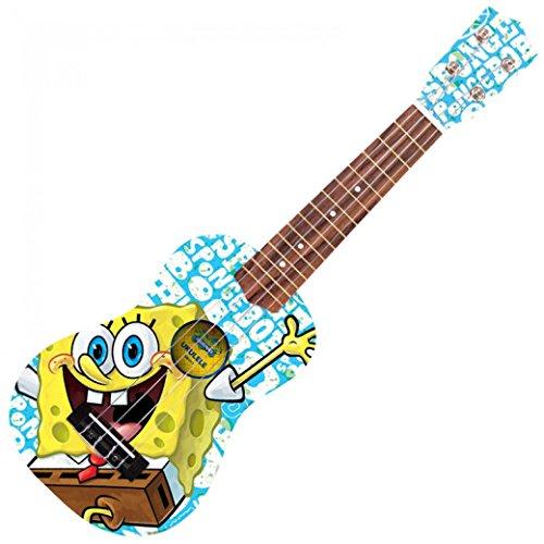 Spongebob SBUK5 houten ukelele, bikini-botom blauw