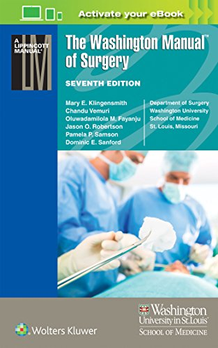 The Washington Manual Of Surgery Lippincott Manual Series