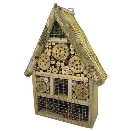 Beste Angebote Insektenhaus Insektenhotel XXXL Bienenhaus Holz Winterquartier Biene Nistkasten 50x30x10cm