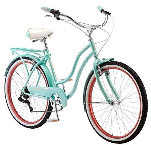 Schwinn Perla Cruiser Women's Bicycle, 26 inch wheel size, Blue bike