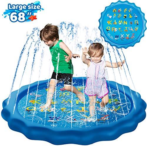 KingsDragon Splash Pad Inflatable Sprinkler for Kids Outside Toys, 68
