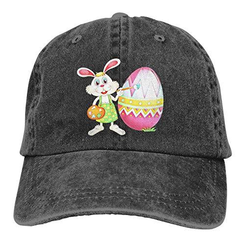 kaifaquqiaoqibaihuodian Trucker Cap Easter Bunny 1 Durable Baseball Cap,Adjustable Dad Hat Black Fashion14511
