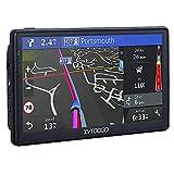 Navegador GPS,7 Pulgadas Sistema de navegación GPS-Camiones Coches Actualizaciones de Mapas de Europa para Toda la Vida Pantalla Guía de Voz LCD Multimedia Portátil Satélite UE UK países 2021
