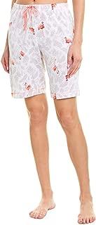 Womens Flamingo Bermuda Short, M, White