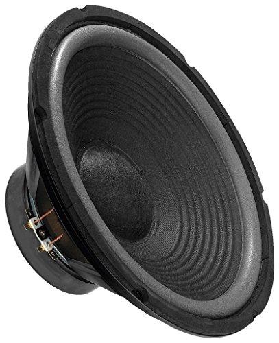 MONACOR SP-302E Hi-Fi Tiefmitteltöner, kompakter Bass-Speaker in Zweiwege-Konstruktion, ideal geeignet für den Einbau in eine Boden- oder Standbox, in Schwarz
