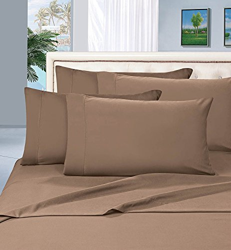 Elegant Comfort Luxurious Bed Sheets Set on Amazon 1500 Thread Count Wrinkle,Fade and Stain Resistant 4-Piece Bed Sheet Set, Deep Pocket, Hypoallergenic - Queen Taupe