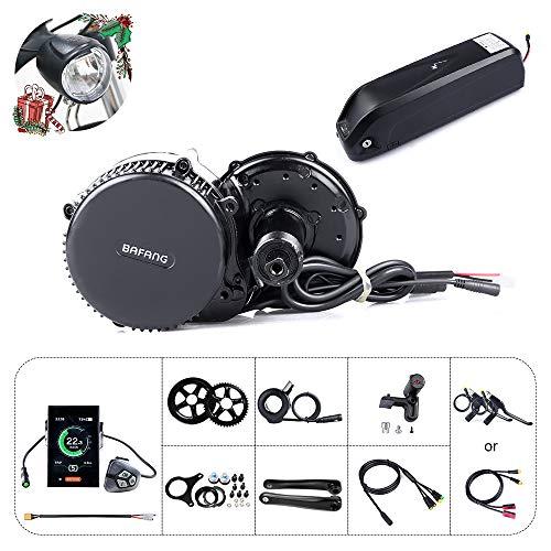Bafang Elektrofahrrad-Kit Mittelmotor BBS02B 48V 750W Umbausatz Ebike-Komponenten-Kit oder Mittelmotor mit 48V 11.6/17.5Ah Hailong Batterie/Gepäckträgerbatterie