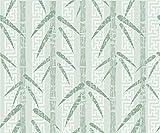 Vinilo decorativo bambú papel de contacto adhesivo estante cajón Liner (verde, 45 x 200 cm )