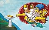 Los Simpsons Jigsaw Puzzle 500 Piezas, Educational Game Juguete para Aliviar Estrés Juego Intelectual Cerebro Desafío, Decoración Hogareña, 20In X 15In