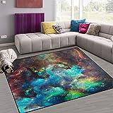 Naanle Galaxy Star Area Rug 5'x7', Universe Nebula Polyester Area Rug Mat...