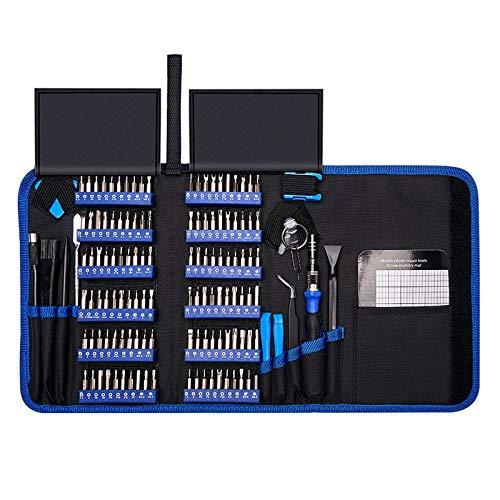 Präzisions-Schraubendreher-Set, 140 in 1 CR-V Schraubendreher Magnetic Torx Hex-Schraubendreher-Bits Elektronik-Reparatur-Tool-Kit-Bit, mit Tragetasche (Color : 140 Blue)