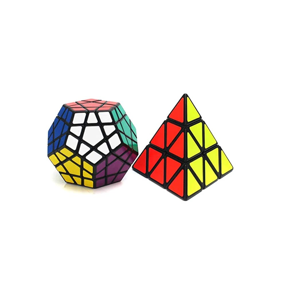 手当世論調査テスピアンQiaoxianpo01 ルービックキューブ、クリエイティブデザインスタイル、丈夫なデザイン、滑らかなデザイン、贈り物としても使える(2パック) 雰囲気 (Edition : Triangle and Pentagonal)