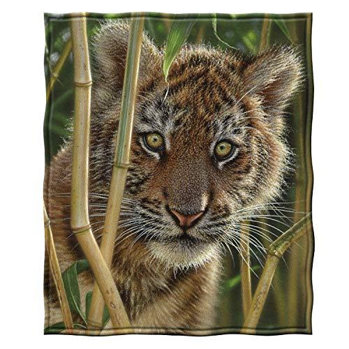 Dawhud Direct Fleece Throw Blanket by Collin Bogle (Discovery Tiger Cub)
