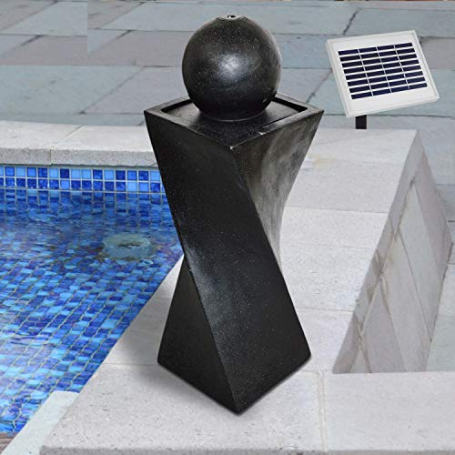 GARTENBRUNNEN BRUNNEN Springbrunnen Solar BRUNNEN ZIERBRUNNEN VOGELBAD WASSERFALL GARTENLEUCHTE TEICHPUMPE - WASSERSPIEL für Garten, Gartenteich, Terrasse, Teich, Balkon, sehr DEKORATIV, VERBESSERTES MODELL MIT PUMPEN-INSTANT-START-FUNKTION SOLARTEIC