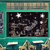 JKJND Blanca Navidad Muñeco De Nieve Estrellas Rejas De Ventana Sala De Estar Decorativos Adhesivos De Pared Adhesivo Extraíble Pvc