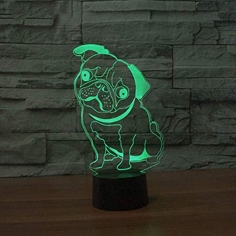 Laofan Baby Schlaf Beleuchtung Schlafzimmer Dekoration USB 3D Führte Hund Modelling Tischlampe Kinder Nachttischlampen Nachtlicht Geschenke,Berührungsschalter