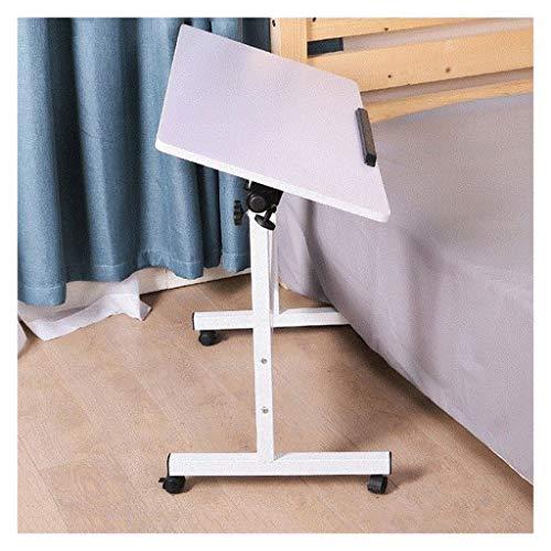 Pflegetisch Mobiler Laptop-Schreibtisch Für Schlafzimmer, Wohnzimmer, Sofa Beistelltisch Notebooktisch (Color : White, Size : 80x50cm)