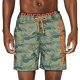 Superdry State Volley Swim Short Pantalones Cortos, Multicolor (Camo F28), XS para Hombre