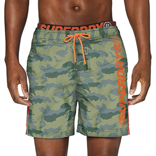 Superdry Herren State Volley Swim Shorts, Mehrfarbig (Camo F28), Large