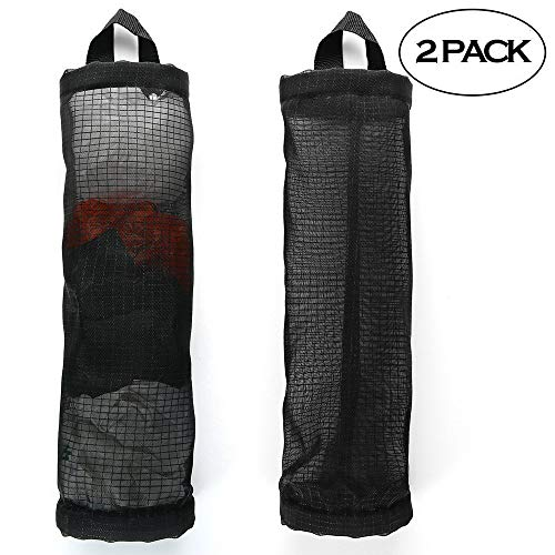 Review Of FSLIFE Plastic Bag Holder And Dispenser Hanging Folding Mesh Garbage Bag Organizer Trash B...